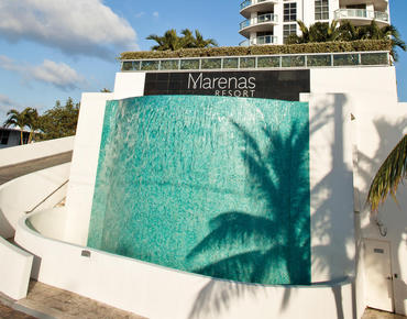 Marenas Resort sign