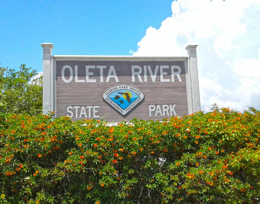 oleta river state park sign