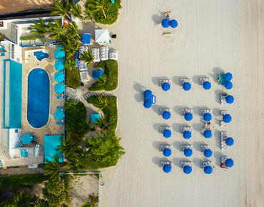beach and pool aerial