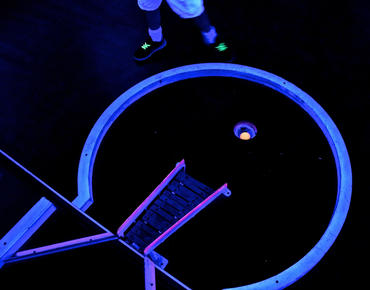 hole of glow in the dark mini golf