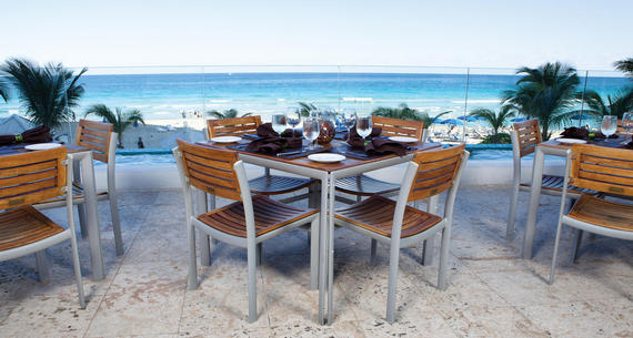 beachside dining table