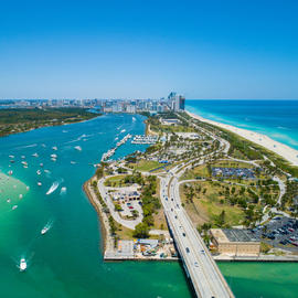 aerial picture of haulover park