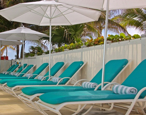 Poolside Lounge Chairs At Marenas Resort