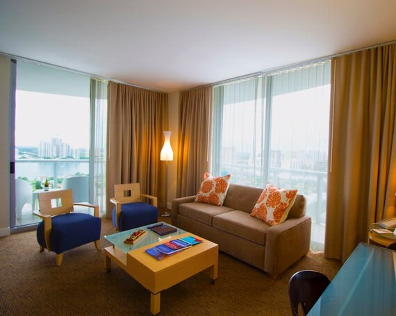 Two Bedroom Suite. Two Bedroom Bayfront Suite at Marenas Beach Resort North Miami Hotels  Suites