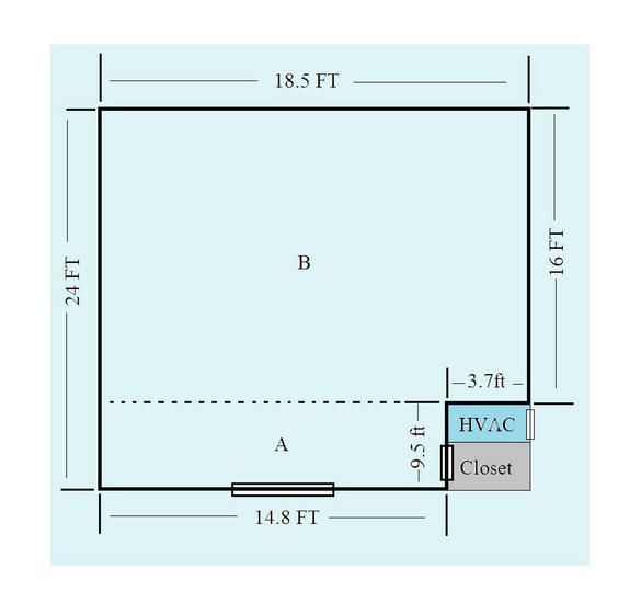 Floorplan of the Mid Atlantic room at Marenas